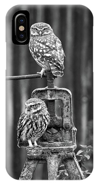 Little Owls Black And White IPhone Case
