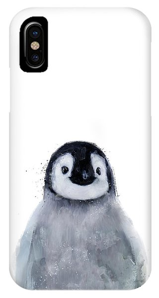 Penguin iPhone Case - Little Penguin by Amy Hamilton