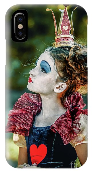 IPhone Case featuring the photograph Little Princess Of Hearts Alice In Wonderland by Dimitar Hristov