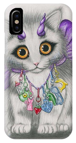 Little Purple Horns - 1980s Cute Devil Kitten IPhone Case