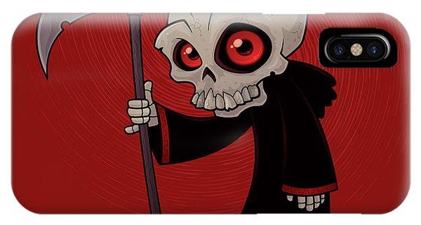 Skull iPhone Case - Little Reaper by John Schwegel