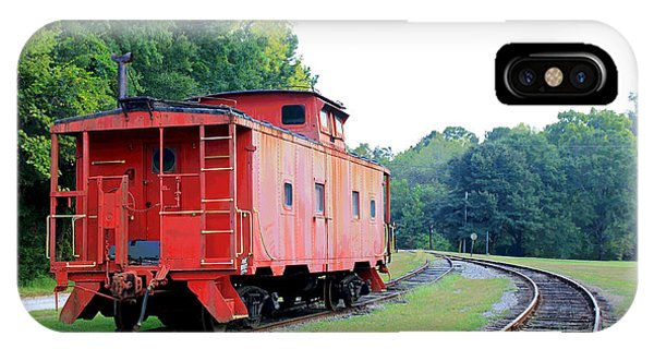 Red Caboose iPhone Case - Little Red Caboose Enhanced by Suzanne Gaff