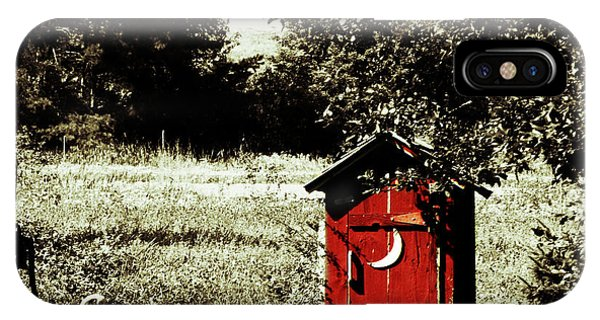 Little Red Outhouse IPhone Case