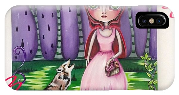 Pop Art iPhone Case - little Red Riding Hood Painting by Jaz Higgins