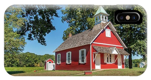 Little Red School House IPhone Case