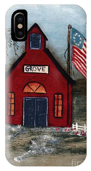 Little Red Schoolhouse IPhone Case