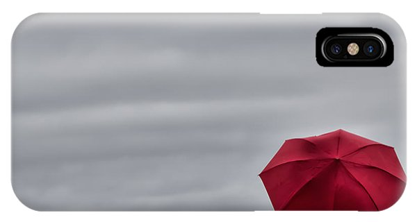 Little Red Umbrella In A Big Universe IPhone Case