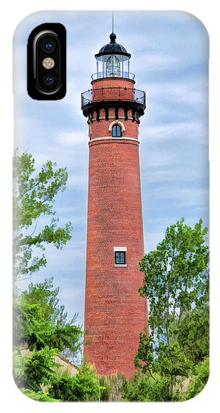 IPhone Case featuring the painting Little Sable Lighthouse by Christopher Arndt