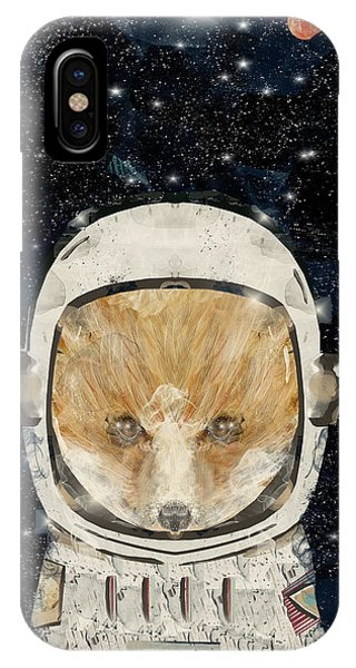 Solar System iPhone Case - Little Space Fox by Bri Buckley