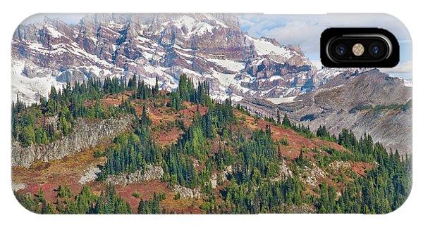 Little Tahoma Peak And Stevens Ridge In The Fall IPhone Case