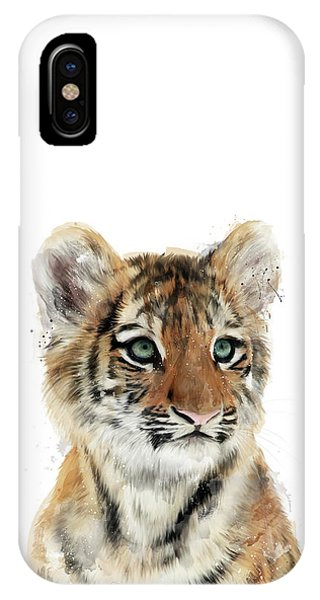 Tiger iPhone Case - Little Tiger by Amy Hamilton