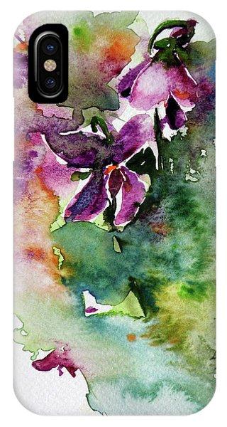 Violet iPhone Case - Little Violet by Kovacs Anna Brigitta