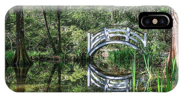 Little White Bridge At Magnolia Plantation And Gardens IPhone Case