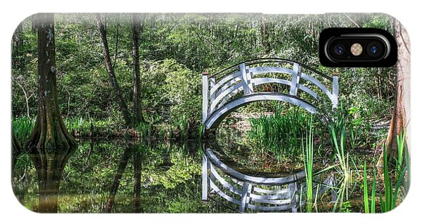 Little White Bridge At Magnolia Plantation And Gardens IPhone Case