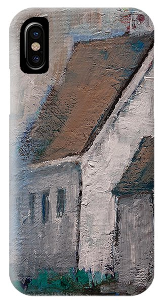 Little White Church On The Corner Christian Painting  IPhone Case
