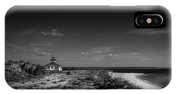 Porches iPhone Case - Little White Lighthouse Bw by Marvin Spates