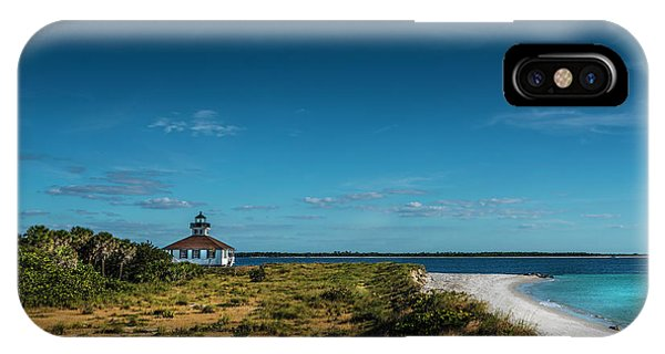 Navigation iPhone Case - Little White Lighthouse by Marvin Spates