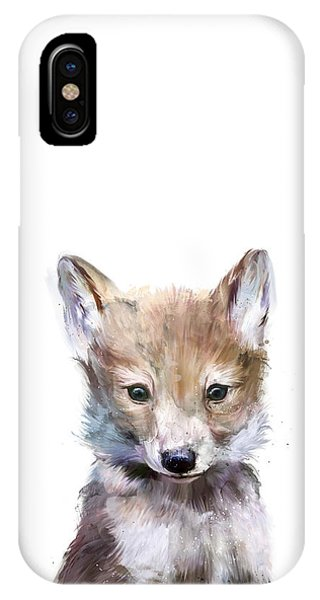 Wolf iPhone Case - Little Wolf by Amy Hamilton