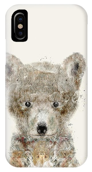 Pup iPhone Case - Little Wolf by Bri Buckley
