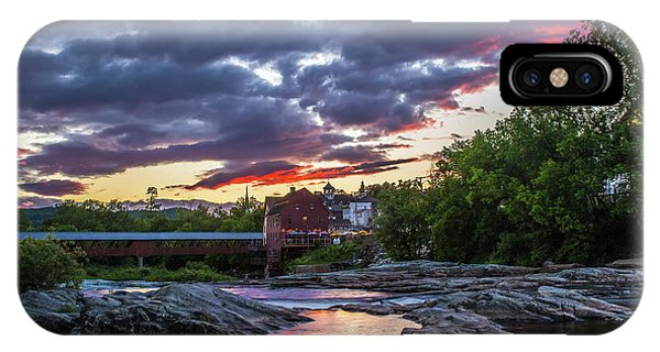 Littleton Sunset On The Rocks IPhone Case