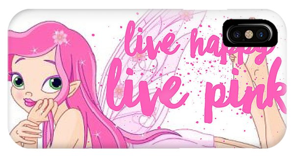iPhone Case - Live Happy Test by The Pink Princess Shop