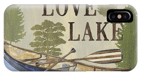 Cabin iPhone Case - Live, Love Lake by Debbie DeWitt