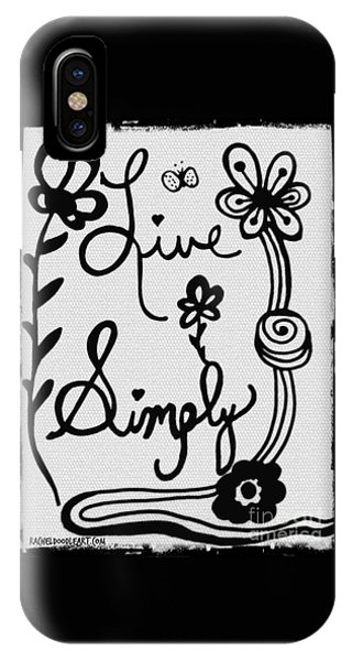 Live Simply IPhone Case