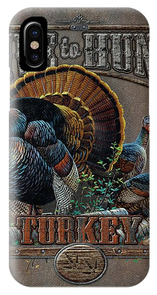 Turkey iPhone Case - Live To Hunt Turkey by JQ Licensing
