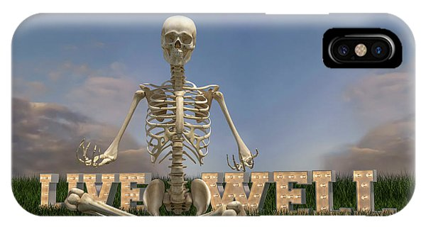 Sitting iPhone Case - Live Well by Betsy Knapp