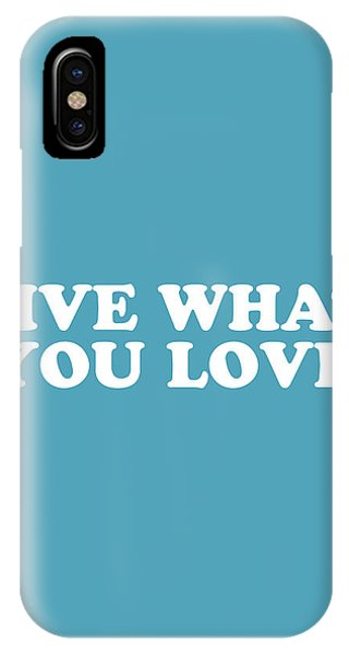 Simple iPhone Case - Live What You Love Simply Inspired Series 019 by Design Turnpike