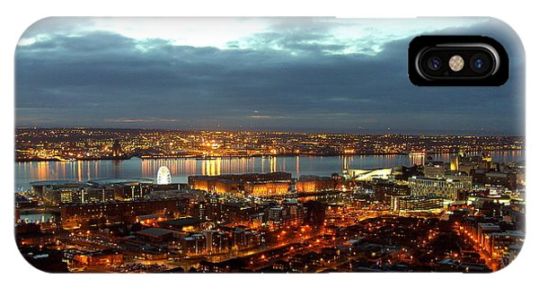 Liverpool City And River Mersey IPhone Case