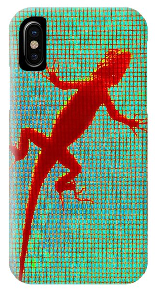 Lizard On The Screen IPhone Case