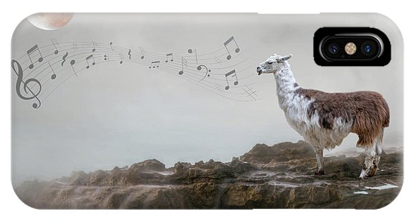 Llama Singing To The Moon IPhone Case