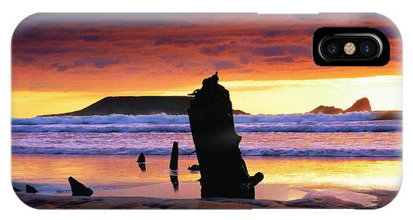 Llangennith Helvetia Wreck IPhone Case
