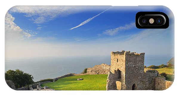 Llansteffan Castle 2 IPhone Case