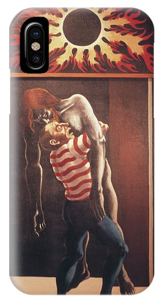 IPhone Case featuring the painting Llego' Con Tres Heridas by William Hart McNichols