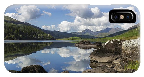 Llyn Mymbyr And Snowdon Panorama IPhone Case
