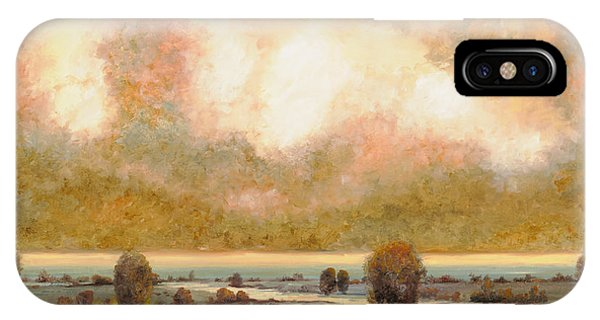 River iPhone Case - Lo Stagno Sotto Al Cielo by Guido Borelli