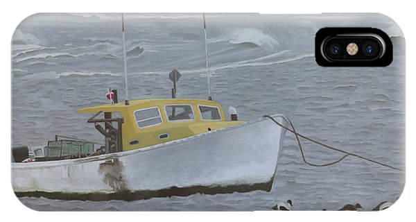 Lobster Boat In Kettle Cove IPhone Case