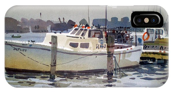 Lobster Boats In Shark River IPhone Case