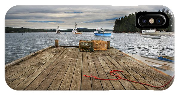 Lobster Boats Of Winter Harbor IPhone Case