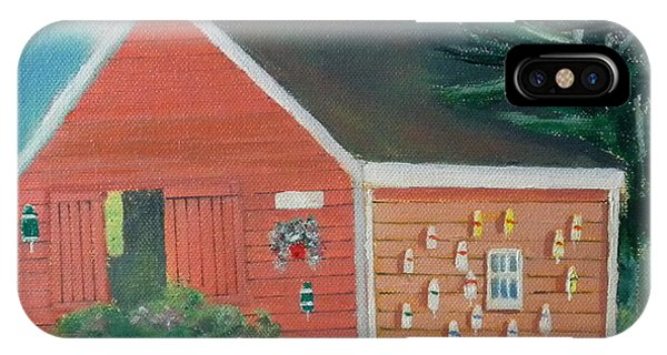 Lobster Buoy Shack IPhone Case
