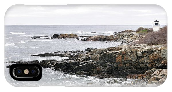 Lobster Point Lighthouse - Ogunquit Maine IPhone Case