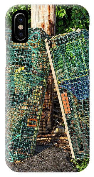 Lobster Pots - Perkins Cove - Maine IPhone Case