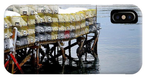 Lobster Traps In Winter IPhone Case