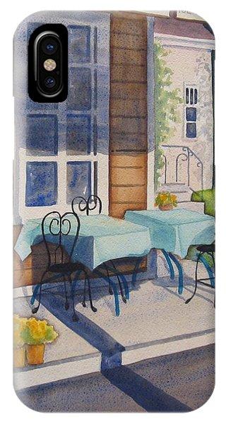 Porch iPhone Case - Local Hangout by Marsha Elliott