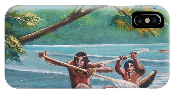 Locals Rowing In The Amazon River IPhone Case