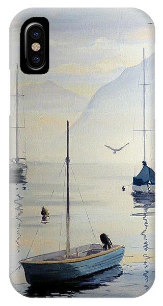 Locarno Boats In February IPhone Case