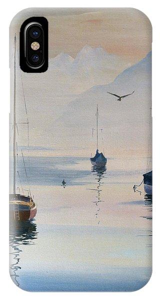 Locarno Boats In February-2 IPhone Case