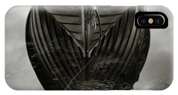 Loch Ard iPhone Case - Boat Reflection by Dave Bowman